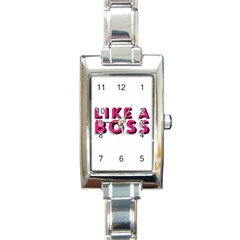 Like A Boss  Rectangle Italian Charm Watches by OCDesignss