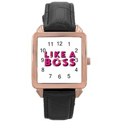 Like A Boss  Rose Gold Watches by OCDesignss