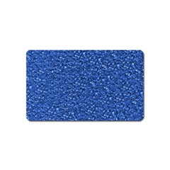 Sparkling Glitter Blue Magnet (name Card) by ImpressiveMoments