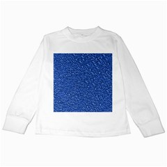 Sparkling Glitter Blue Kids Long Sleeve T Shirts by ImpressiveMoments
