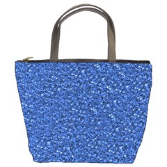 Sparkling Glitter Blue Bucket Bags by ImpressiveMoments