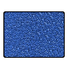 Sparkling Glitter Blue Fleece Blanket (small) by ImpressiveMoments