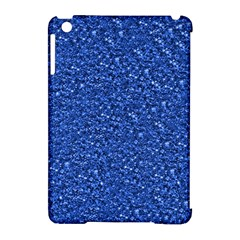 Sparkling Glitter Blue Apple Ipad Mini Hardshell Case (compatible With Smart Cover) by ImpressiveMoments