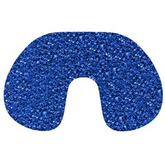 Sparkling Glitter Blue Travel Neck Pillows by ImpressiveMoments