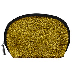 Sparkling Glitter Golden Accessory Pouches (large)