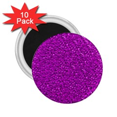Sparkling Glitter Hot Pink 2 25  Magnets (10 Pack)  by ImpressiveMoments