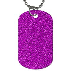 Sparkling Glitter Hot Pink Dog Tag (two Sides) by ImpressiveMoments