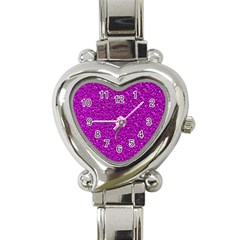 Sparkling Glitter Hot Pink Heart Italian Charm Watch by ImpressiveMoments