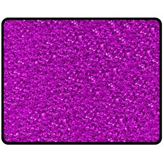 Sparkling Glitter Hot Pink Fleece Blanket (medium)
