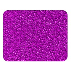 Sparkling Glitter Hot Pink Double Sided Flano Blanket (large)