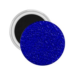 Sparkling Glitter Inky Blue 2 25  Magnets by ImpressiveMoments
