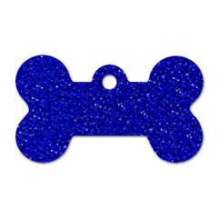 Sparkling Glitter Inky Blue Dog Tag Bone (two Sides) by ImpressiveMoments