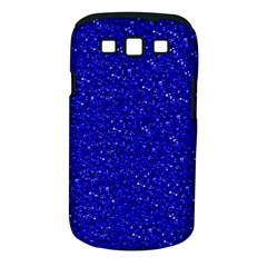 Sparkling Glitter Inky Blue Samsung Galaxy S Iii Classic Hardshell Case (pc+silicone) by ImpressiveMoments