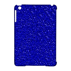 Sparkling Glitter Inky Blue Apple Ipad Mini Hardshell Case (compatible With Smart Cover) by ImpressiveMoments