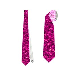 Sparkling Glitter Pink Neckties (two Side)  by ImpressiveMoments