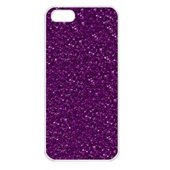 Sparkling Glitter Plum Apple Iphone 5 Seamless Case (white)