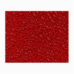 Sparkling Glitter Red Small Glasses Cloth