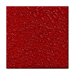 Sparkling Glitter Red Face Towel by ImpressiveMoments