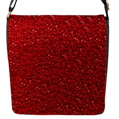 Sparkling Glitter Red Flap Messenger Bag (s) by ImpressiveMoments