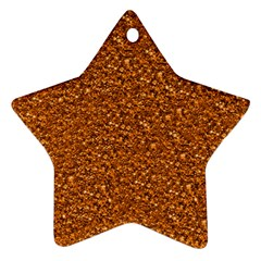 Sparkling Glitter Terra Star Ornament (two Sides)  by ImpressiveMoments