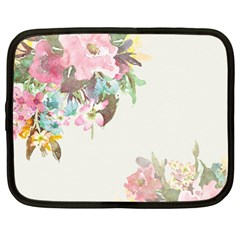 Vintage Watercolor Floral Netbook Case (large)