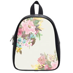 Vintage Watercolor Floral School Bags (small)  by PipPipHooray