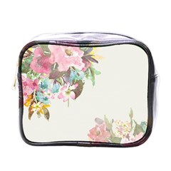 Vintage Watercolor Floral Mini Toiletries Bags