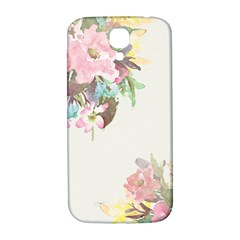 Vintage Watercolor Floral Samsung Galaxy S4 I9500/i9505  Hardshell Back Case by PipPipHooray
