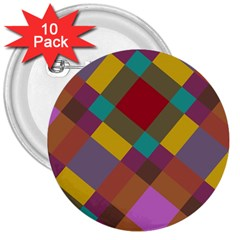 Shapes Pattern 3  Button (10 Pack)