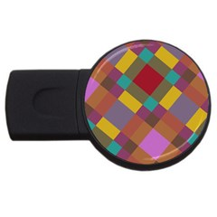Shapes Pattern Usb Flash Drive Round (4 Gb) by LalyLauraFLM