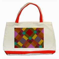 Shapes Pattern Classic Tote Bag (red) by LalyLauraFLM