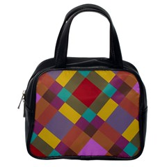 Shapes Pattern Classic Handbag (one Side) by LalyLauraFLM