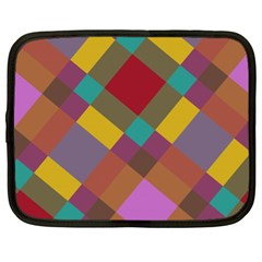 Shapes Pattern Netbook Case (xl) by LalyLauraFLM