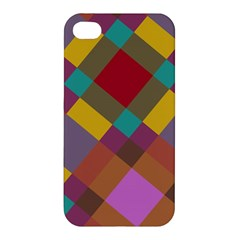 Shapes Pattern Apple Iphone 4/4s Premium Hardshell Case by LalyLauraFLM