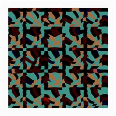 Distorted Shapes In Retro Colors Medium Glasses Cloth (2 Sides) by LalyLauraFLM