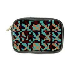 Distorted Shapes In Retro Colors Coin Purse