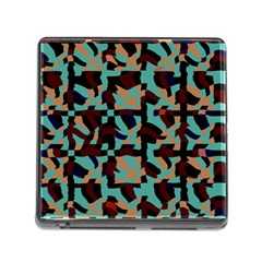 Distorted Shapes In Retro Colors Memory Card Reader (square)