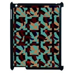Distorted Shapes In Retro Colors Apple Ipad 2 Case (black) by LalyLauraFLM