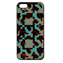 Distorted Shapes In Retro Colors Apple Iphone 5 Seamless Case (black) by LalyLauraFLM