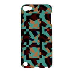 Distorted Shapes In Retro Colors Apple Ipod Touch 5 Hardshell Case by LalyLauraFLM