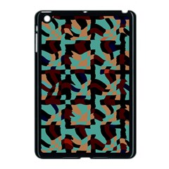 Distorted Shapes In Retro Colors Apple Ipad Mini Case (black) by LalyLauraFLM
