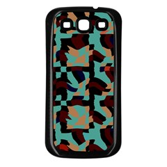 Distorted Shapes In Retro Colors Samsung Galaxy S3 Back Case (black) by LalyLauraFLM