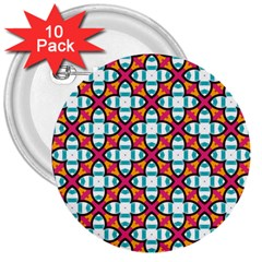 Pattern 1284 3  Buttons (10 pack)