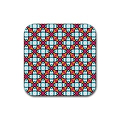 Pattern 1284 Rubber Square Coaster (4 pack)