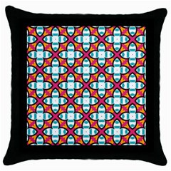 Pattern 1284 Throw Pillow Cases (Black)