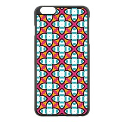 Pattern 1284 Apple Iphone 6 Plus Black Enamel Case by creativemom