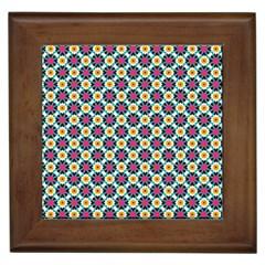 Cute Abstract Pattern Background Framed Tiles by creativemom