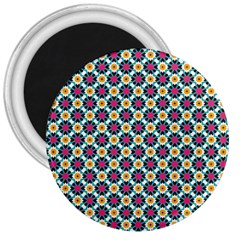 Cute Abstract Pattern Background 3  Magnets by creativemom