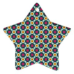 Cute Abstract Pattern Background Ornament (star)  by creativemom