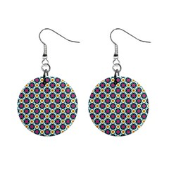 Cute Abstract Pattern Background Mini Button Earrings by creativemom